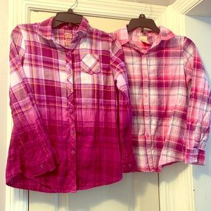 Bundle of 2 Faded Glory Flannel Button downs